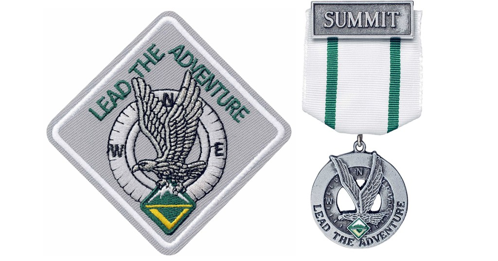Venturing Summit award patch and small medal